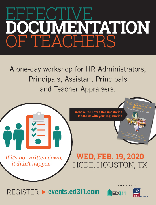 Effective Documentation of Teachers – 2/19/20 HCDE