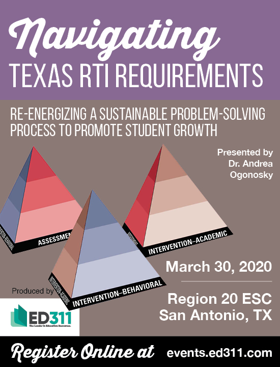 Navigating RtI Requirements – San Antonio